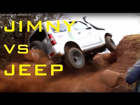 Suzuki Jimny 4x4 vs Jeep Rubicon 4x4