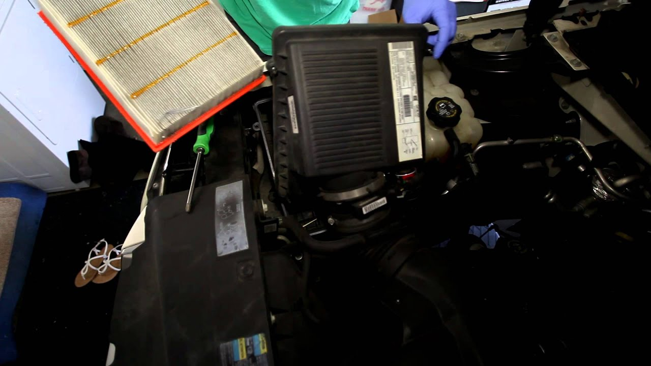 medium resolution of 2002 2006 cadillac escalade engine air filter change