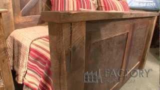 Fireside Lodge Barn Wood Bed - Factoryestores.com