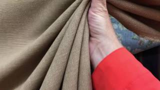 Tan Light Brown Linen Basketweave Clothing / Drapery Fabric By The Yard 54