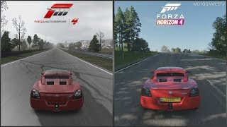 Forza Motorsport 4 vs Forza Horizon 4 - Vauxhall VX220 Turbo Sound Comparison