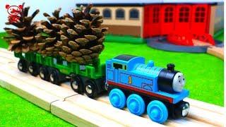 Trains for kids, Thomas the tank engine, fire trucks, brio train depot