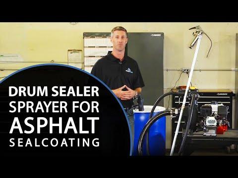 Drum Sealer Sprayer | Asphalt Sealcoating Equipment | Pavement Sealing Machine | Action Seal