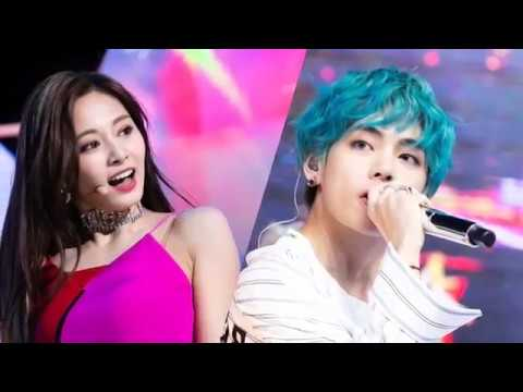 BTS V TAEHYUNG AND TWICE TZUYU (TAETZU) MOMENTS ON MUSIC SHOWS 2019