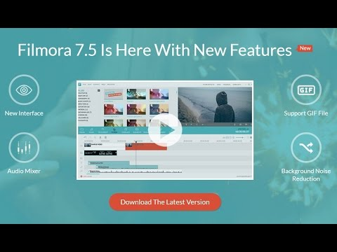 Filmora 7.5 Released with Animated GIF Tool, Stereo Sound, Noise Remove & More...