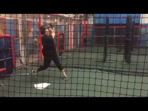 Lauren Haeger at Planet Fastpitch using HitTrax