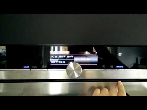 Mikrowellen Bedienung Siemens Iq700 Youtube