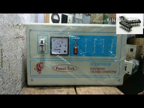 Voltage Stabilizer/Steplizer Connection To Main Line   Electric N Electronic