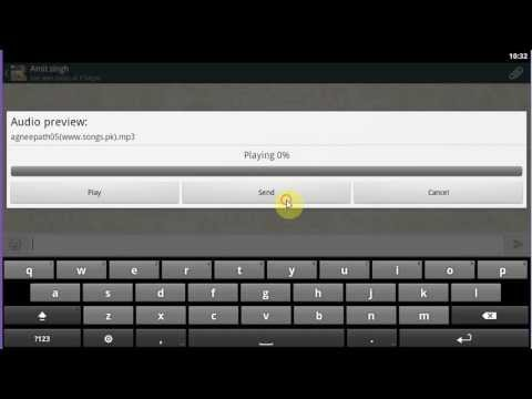 How to send music track in whatsapp in bluestacks  [HD + Narration]