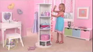 Girls Pretend Dressing Up Swivel Vanity Wardrobe Ideal For Your Princess Kidkraft 12555
