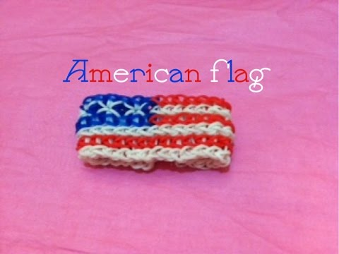 (FIRST EDITION) The American Flag Rainbow Loom Bracelet