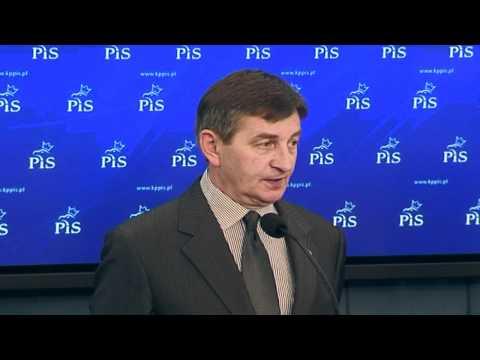 Konferencja Prasowa PiS: Marek Kuchciński, Andrzej Adamczyk