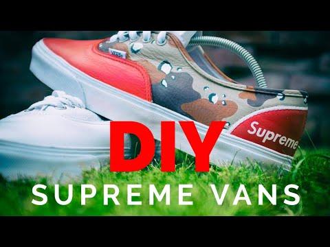 b92424b5ba56 Vans Supreme Custom Tutorial