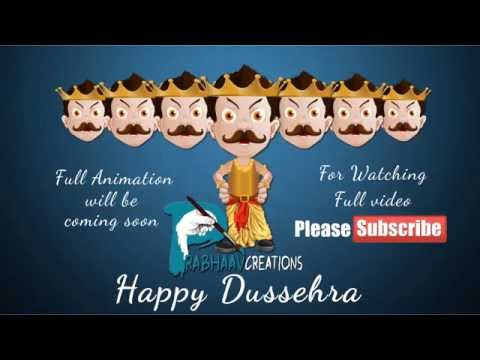 Happy Dussehra 2016 # Dussehra Whatsapp Video E-cards, greetings, wishes,
