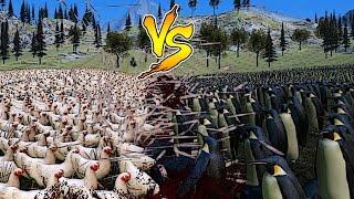 Efsanevi Savaş Simülatörü - 10.000 Tavuk VS. 10.000 Penguen