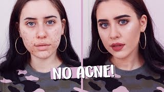MAKEUP PER CANCELLARE L'ACNE! | cleotoms