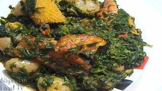 Edikang Ikong Soup (edikaikong)   Nigerian Vegetable Soup   Nigerian Food TV