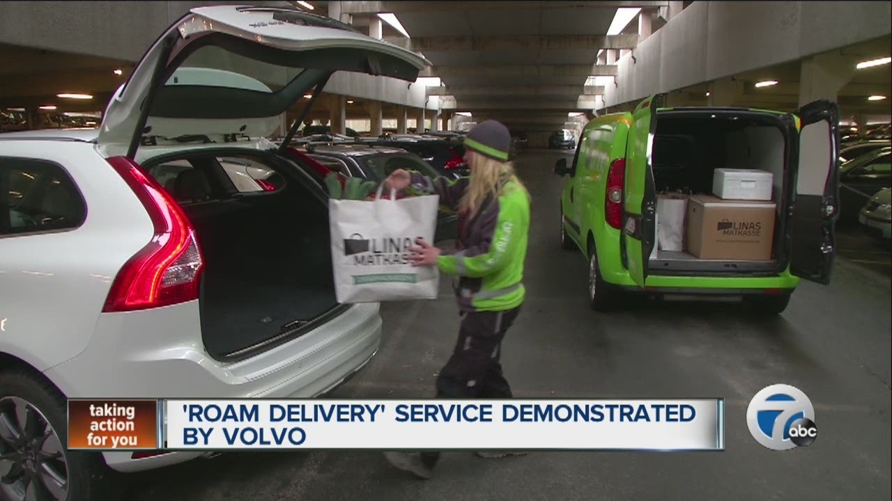 Roam Delivery service demonstrated by Volvo Cars - YouTube