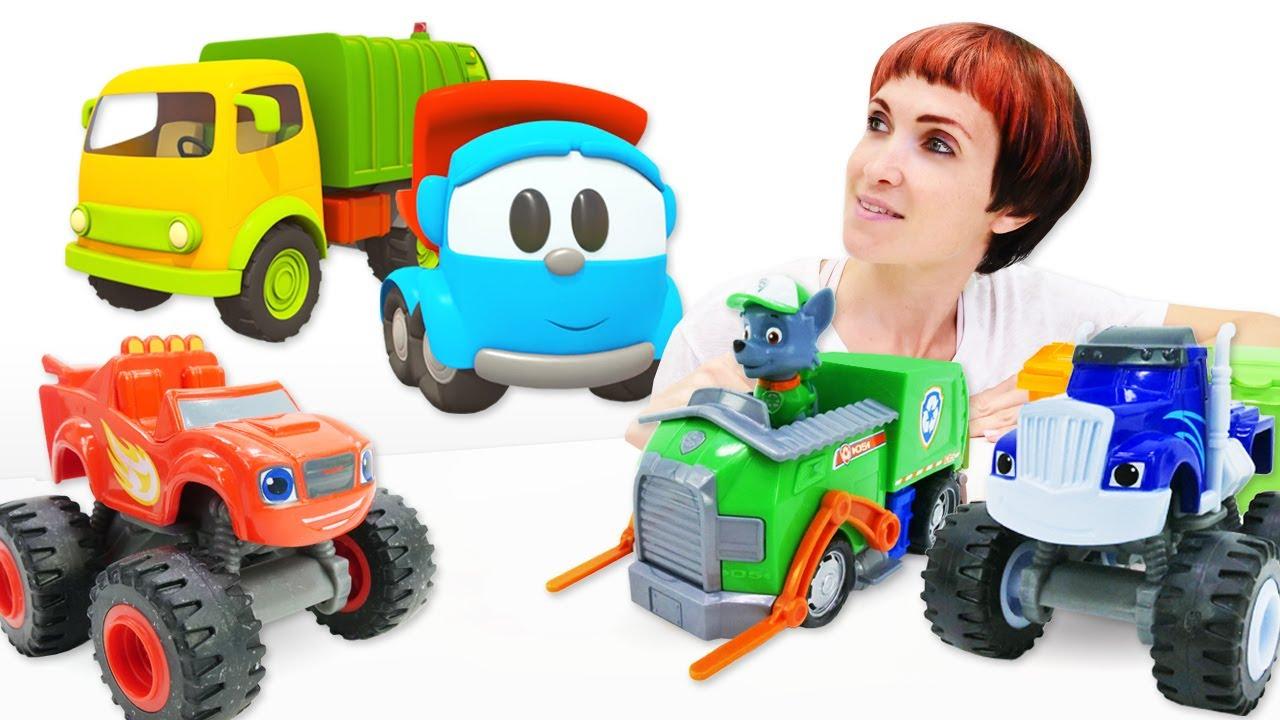 Машинки в детском садике - Вспыш, Крушила и Щенячий патруль читают книжки Капуки Кануки