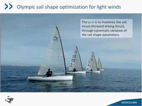 Webinar about the optimization of an Olympic sail using XFlow, CATIA and modeFRONTIER