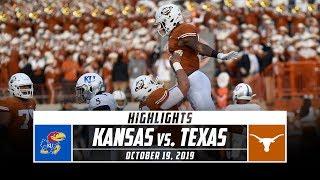 Kansas vs. No. 15 Texas Football Highlights (2019) | Stadium