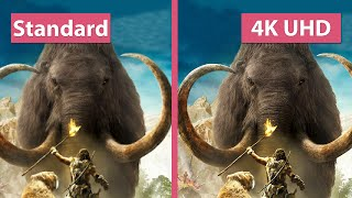Far Cry Primal Patch 1.3.0 UHD 4K vs. Standard Textures Graphics Comparison