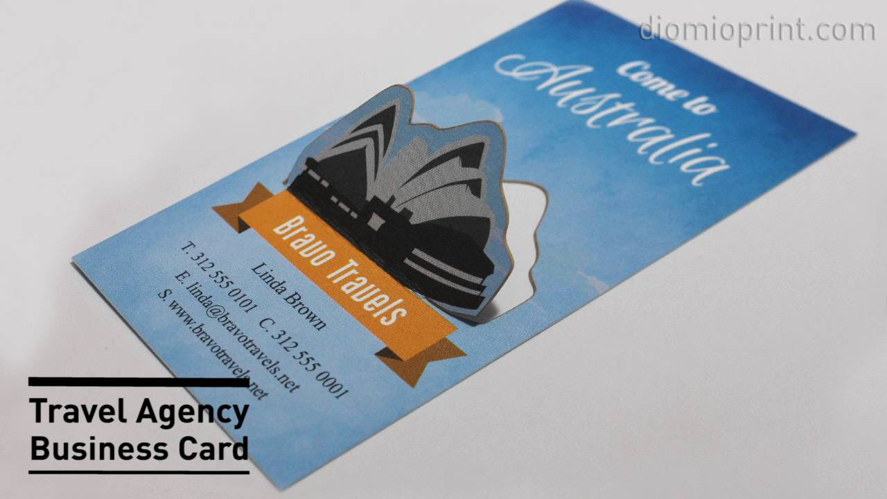 Travel Agency Business Card - YouTube