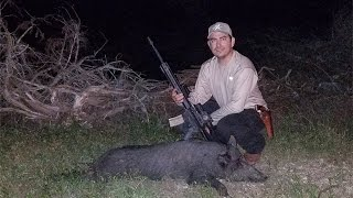 Boar Down with Hornady Grendel SST Ammo, BosqueHogs