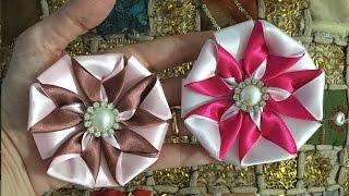 Flor de fita com duas cores – PAP – Cris Albuque