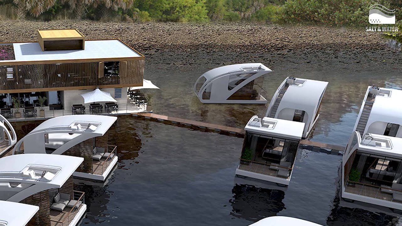 Floating Hotel Part - 41: Floating Hotel With Catamaran Apartments By Salt U0026 Water - YouTube