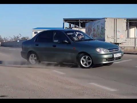 Езда по кругу на Шевролет Ланосе | Chevrolet Lanos