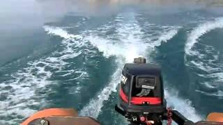 видео 2х-тактный лодочный мотор Mercury 5M