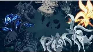 Uchiha madara & gedo mazo vs Hasirama - Tobirama - Naruto - Sasuke and bijuu