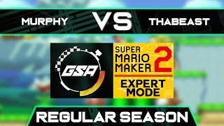 ThisWasMurphy vs Thabeast721   Regular Season   GSA SMM2 Expert Mode Speedrun League DB Season 3