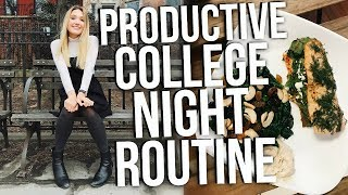 PRODUCTIVE COLLEGE NIGHT ROUTINE 2018!