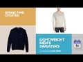 Lightweight Men's Sweaters Spring Time Updates