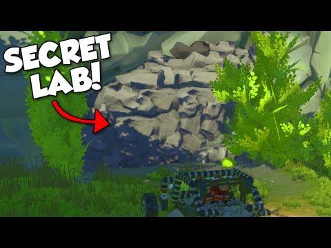 SECRET CAVE LAB! - Scrap Mechanic Terrain Update Gameplay & Showcase