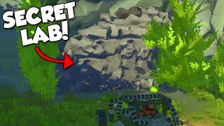 SECRET CAVE LAB! - Scrap Mechanic Terrain Update Gameplay & Showcase