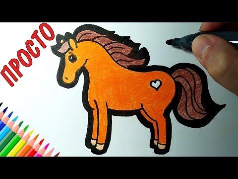 Как легко нарисовать коня