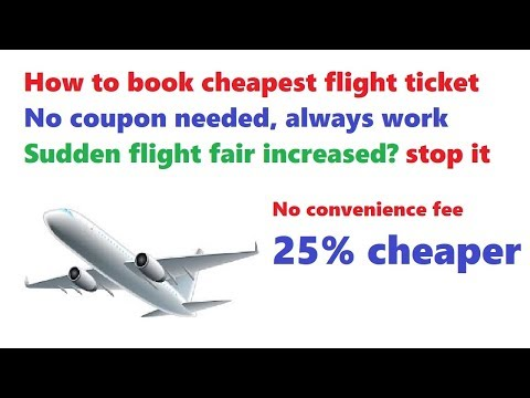 how to book cheap flight tickets in india | no convenience fee flight