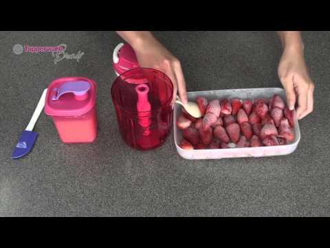Yummy berries ice cream with Tupperware FreezerMate and Turbo Chopper
