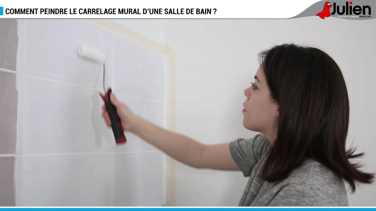 Comment peindre le carrelage mural dune salle de bain   Peintures Julien  YouTube