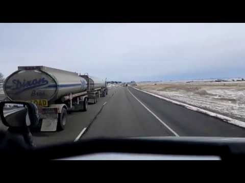 BigRigTravels LIVE! Mandan to Fargo, North Dakota Interstate 94 East-April 13, 2018
