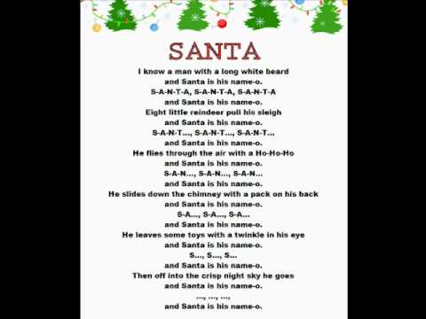 SANTA (Christmas Rhymes) - YouTube