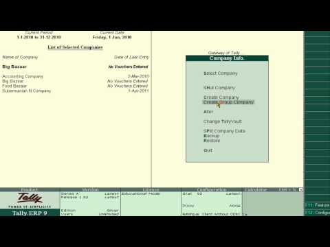 How to Create Group of Companies in Tally  ( Part 45)