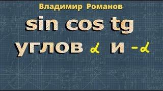 СИНУС КОСИНУС ТАНГЕНС углов α и -α 10 11 класс тригонометрия