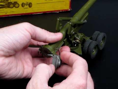 Vintage Diecast Britains England Toy 155MM Gun Firing Cannon