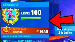"HOW TO ""RANK UP FAST & EASY in FORTNITE SEASON 9"" (SEASON 9 MAX LEVEL SKINS FAST METHOD)"