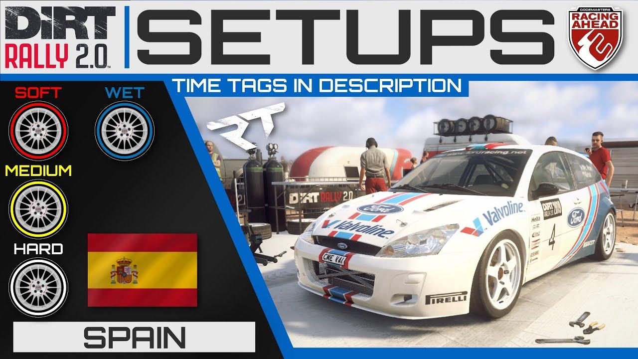 Ford Focus RS WRC 2001 | Spain SETUPS | DiRT Rally 2.0