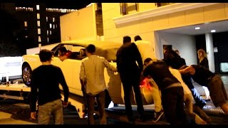 PROBLEMS To Unload Rolls Royce Drophead Of Truck In Cannes